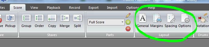 Forte - Score Layout